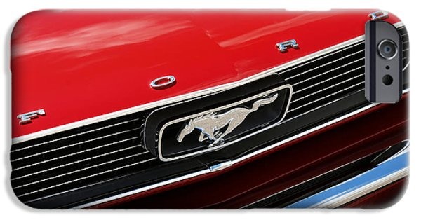 1964 Ford Emblem iPhone Cases - 1966 Ford Mustang iPhone Case by Gordon Dean II