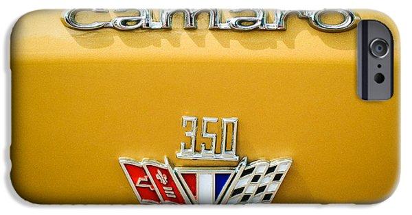 Buy iPhone Cases - 1967 Chevrolet Camaro 350 Emblem -0357c1 iPhone Case by Jill Reger