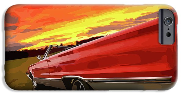 426 iPhone Cases - 1967 Plymouth Satellite Convertible iPhone Case by Gordon Dean II