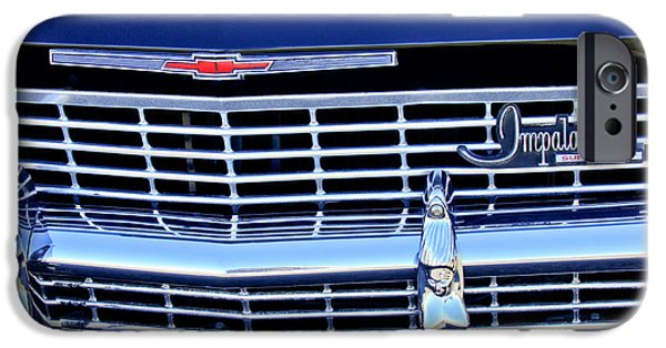 1968 iPhone Cases - 1968 Chevrolet Impala SS Grille Emblem iPhone Case by Jill Reger
