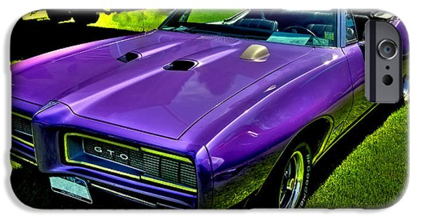 Automotive iPhone Cases - 1968 Pontiac GTO convertible iPhone Case by David Patterson