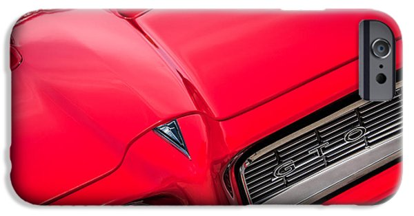 Buy iPhone Cases - 1968 Pontiac GTO Grille Emblem -0740c iPhone Case by Jill Reger