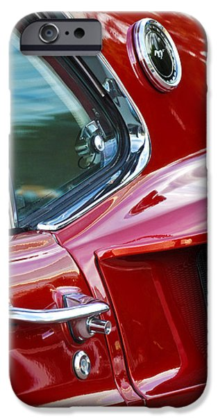 Vintage Car iPhone Cases - 1969 Ford Mustang Mach 1 Side Scoop iPhone Case by Jill Reger