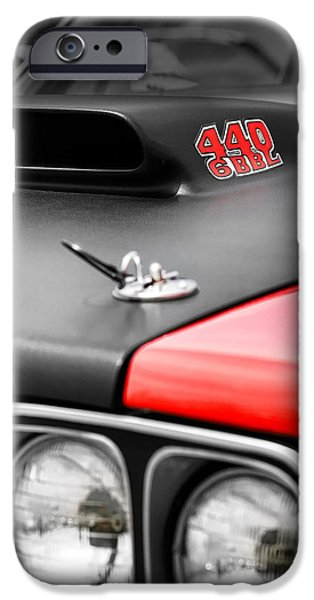 426 iPhone Cases - 1969 Plymouth Road Runner 440 6BBL iPhone Case by Gordon Dean II