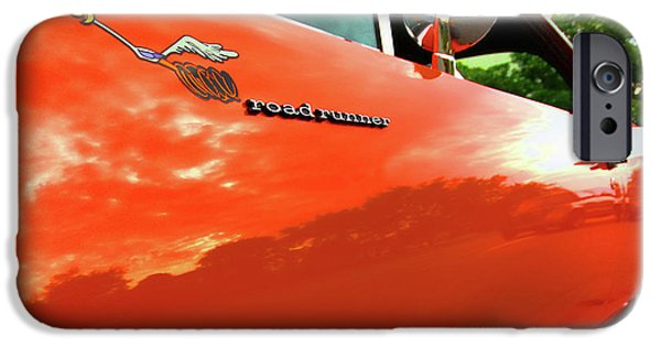 440 iPhone Cases - 1969 Plymouth Road Runner 440 Roadrunner iPhone Case by Gordon Dean II