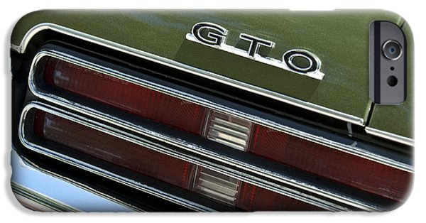 1969 iPhone Cases - 1969 Pontiac GTO Taillight Emblem iPhone Case by Jill Reger
