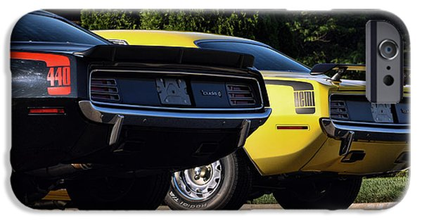 440 iPhone Cases - 1970 Plymouth Cuda 440 and HEMI iPhone Case by Gordon Dean II