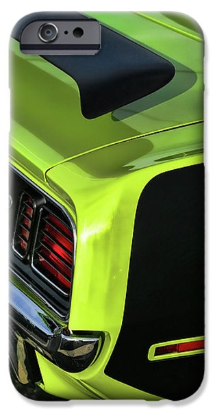 440 iPhone Cases - 1971 Plymouth Hemicuda Hemi Cuda Barracuda iPhone Case by Gordon Dean II