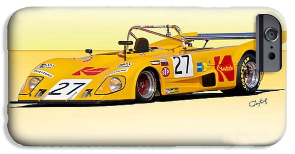 Circuit iPhone Cases - 1972 Lola T290 iPhone Case by Dave Koontz