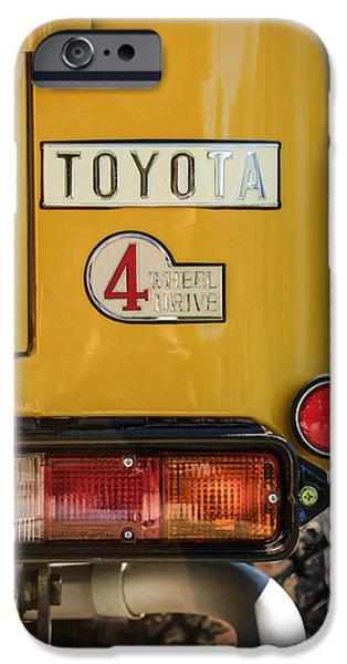 Cruiser iPhone Cases - 1978 Toyota Land Cruiser FJ40 Taillight Emblem -1191c iPhone Case by Jill Reger