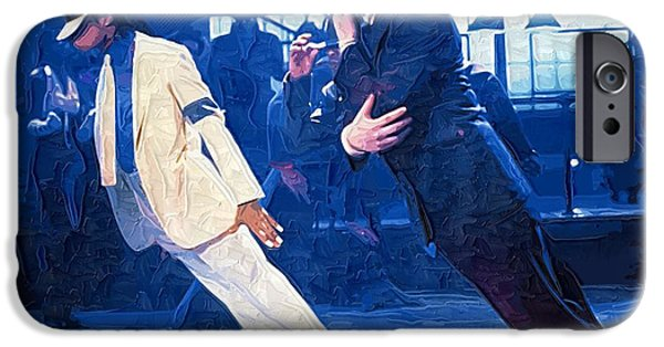 Jackson 5 iPhone Cases - 1987 Michael Jackson on the set of the Smooth Criminal iPhone Case by Victor Gladkiy
