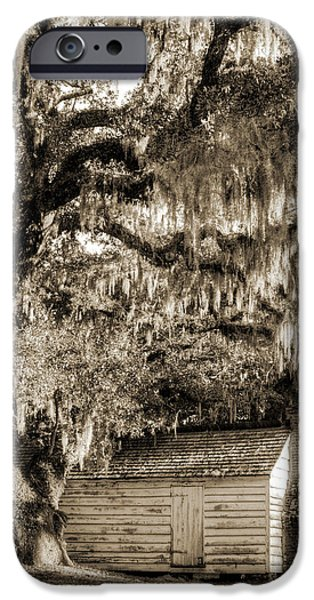 19th Century Photographs iPhone Cases - 19th Century Slave house iPhone Case by Dustin K Ryan