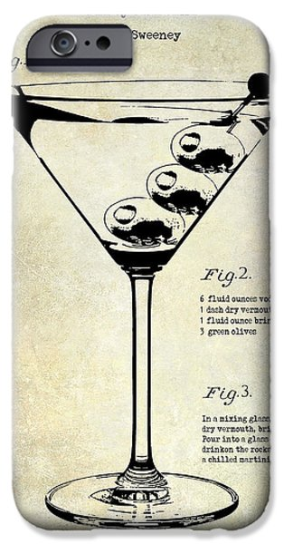 Dirty iPhone Cases - 1897 Dirty Martini Patent iPhone Case by Jon Neidert