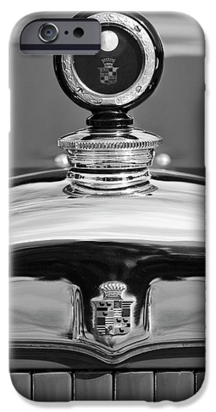 Motometer iPhone Cases - 1926 Cadillac Series 314 Custom Hood Ornament iPhone Case by Jill Reger