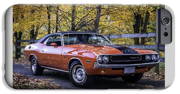 Drag iPhone Cases - 1970 Dodge Challenger RT  iPhone Case by Thomas Schoeller