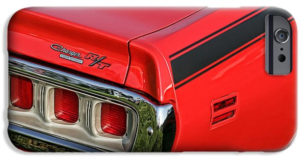 426 iPhone Cases - 1971 Dodge Charger RT iPhone Case by Gordon Dean II