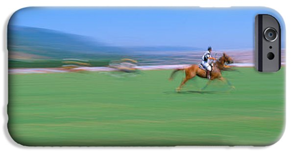Racquet iPhone Cases - 1998 World Polo Championship, Santa iPhone Case by Panoramic Images