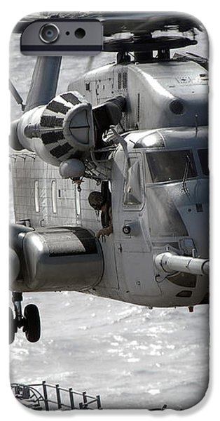 A Ch-53e Super Stallion Helicopter iPhone Case by Stocktrek Images