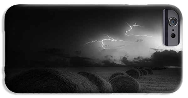 Electrical iPhone Cases - A Storm This Way Comes iPhone Case by Brin Weins