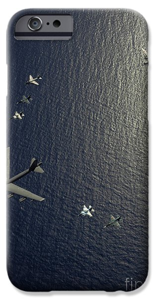Electronic iPhone Cases - A U.s. Air Force B-52 Stratofortress iPhone Case by Stocktrek Images