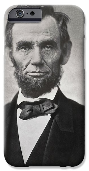 Character Portraits Photographs iPhone Cases - ABRAHAM LINCOLN - 16th U S PRESIDENT iPhone Case by Daniel Hagerman
