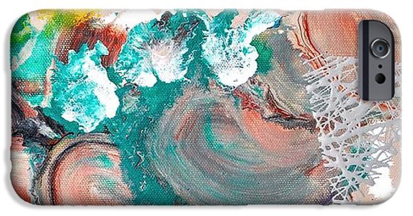 Abstract Expressionism iPhone Cases - Abstract acrylic painting picture iPhone Case by Sumit Mehndiratta