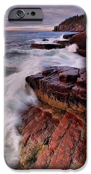 Maine iPhone Cases - Along The Acadia Coast iPhone Case by Stephen  Vecchiotti