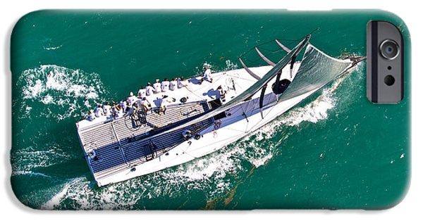 Boat iPhone Cases - Aerial Regatta iPhone Case by Steven Lapkin