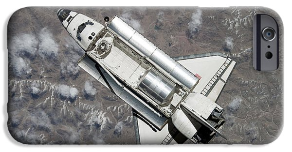 Component iPhone Cases - Aerial View Of Space Shuttle Discovery iPhone Case by Stocktrek Images