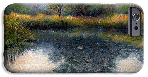 Reflection Pastels iPhone Cases - After the Rain iPhone Case by Susan Jenkins