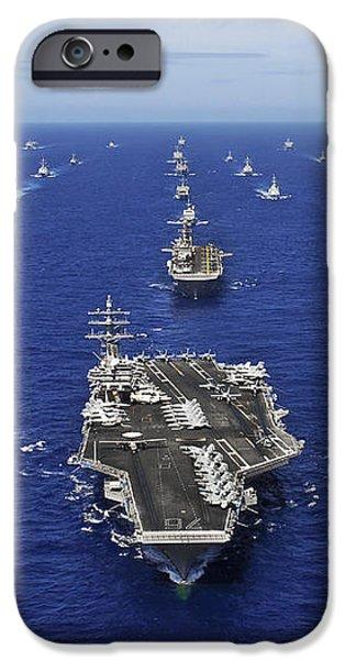 Aircraft Carrier Uss Ronald Reagan iPhone Case by Stocktrek Images