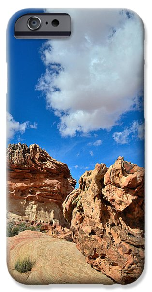 Nation iPhone Cases - Alien Rocks iPhone Case by Ray Mathis