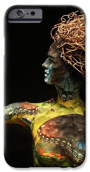Alight a sculpture by Adam Long iPhone Case by Adam Long