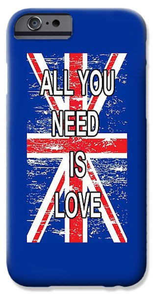 Beatles iPhone Cases - All you need is Love iPhone Case by Dave Ell