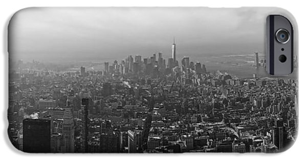 Hudson River iPhone Cases - Amazing Manhattan iPhone Case by Dat Lissbet