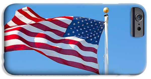 Freedom iPhone Cases - American flag iPhone Case by Mariusz Blach