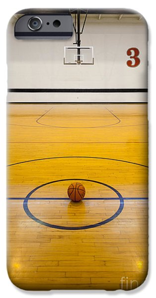 Building Feature iPhone Cases - An Indoor Sports Venue. Basketball iPhone Case by Christian Scully