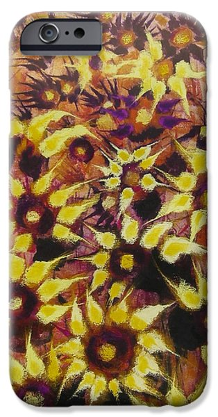 Christmas Greeting Pastels iPhone Cases - Cielo Terrestre iPhone Case by Anna Napoli