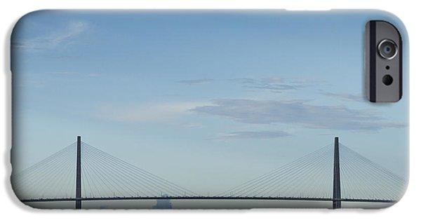 Arthur iPhone Cases - Arthur Ravenel Jr Bridge Charleston SC Cooper River iPhone Case by Dustin K Ryan