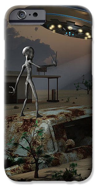 Artists Concept Of A Science Fiction iPhone Case by Mark Stevenson