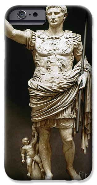 Ambition Photographs iPhone Cases - Augustus (63 B.c.-14 A.d.) iPhone Case by Granger