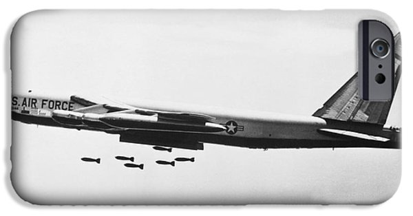 Bombing iPhone Cases - B-52 Bomber iPhone Case by Omikron