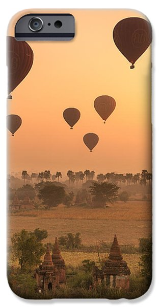 Mist iPhone Cases - Balloons Sky iPhone Case by Marji  Lang