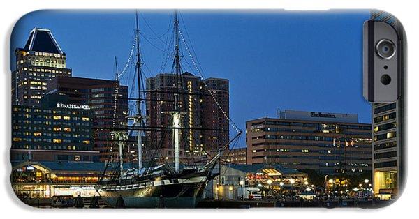 Constellations iPhone Cases - Baltimore Inner Harbor  iPhone Case by John Greim