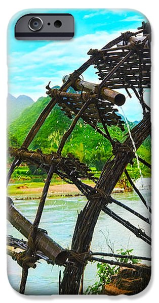 Bamboo water wheel iPhone Case by MotHaiBaPhoto Prints