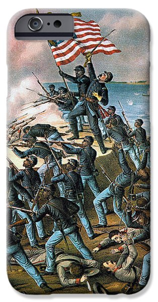 BATTLE OF FORT WAGNER, 1863 iPhone Case by Granger