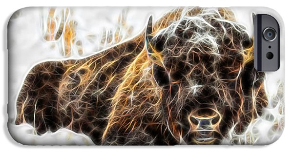 Bison iPhone Cases - Bison Collection iPhone Case by Marvin Blaine