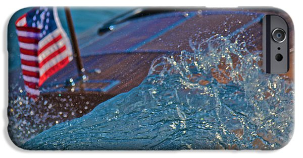 Boat iPhone Cases - Boat Wake iPhone Case by Steven Lapkin