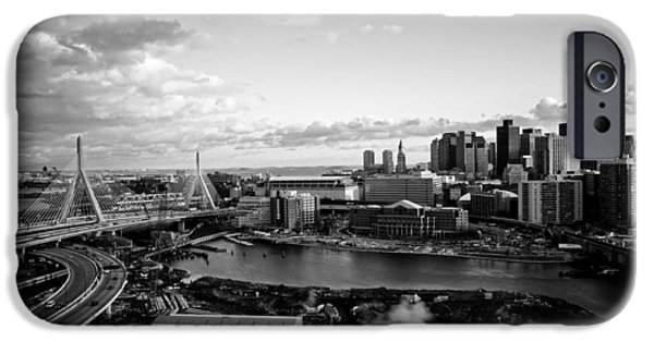 Charles River iPhone Cases - Boston At Dusk iPhone Case by Mountain Dreams