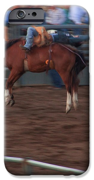 Bronc Riding iPhone Case by Cynthia Dickinson